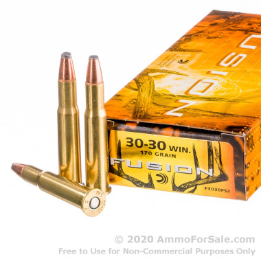 20 Rounds of 170gr Fusion 30-30 Win Ammo by Federal