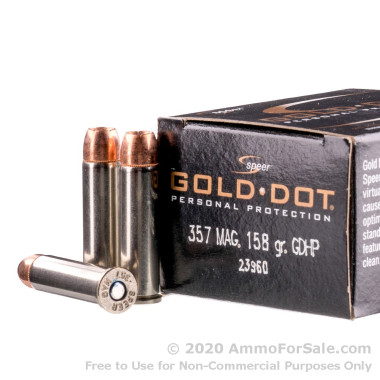 20 Rounds of 158gr JHP .357 Mag Ammo by Speer