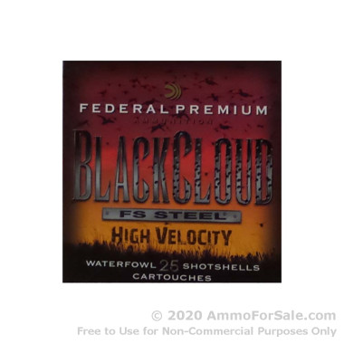 """250 Rounds of 3"""" 1 1/8 ounce #3 shot 12ga Ammo by Federal Blackcloud"""