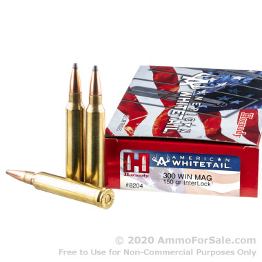 20 Rounds of 150gr SP .300 Win Mag Ammo by Hornady