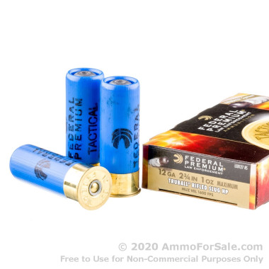 5 Rounds of 1 ounce Rifled Slug 12ga Ammo by Federal Tactical