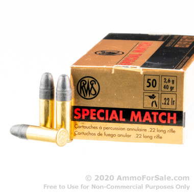 500  Rounds of 40gr LRN .22 LR Ammo by RWS