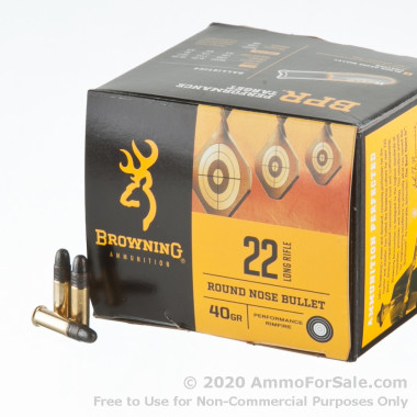 400 Rounds of 40gr LRN .22 LR Ammo by Browning Performance Rimfire
