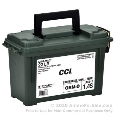 1600 Rounds of 40gr CPRN .22 LR Ammo by CCI