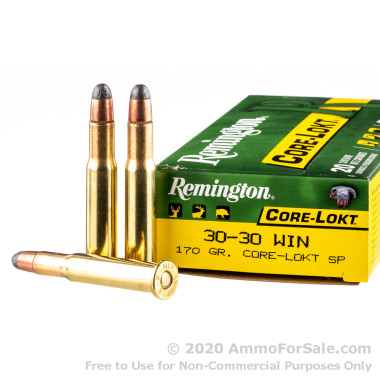20 Rounds of 170gr Core-Lokt SP 30-30 Win Ammo by Remington