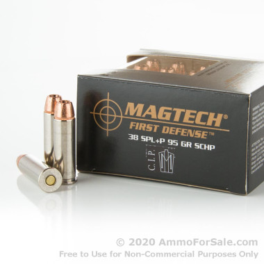 20 Rounds of 95gr +P SCHP .38 Spl Ammo by Magtech First Defense