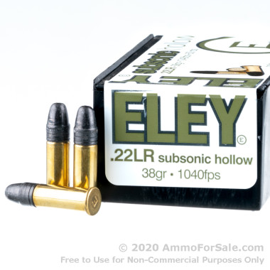 50 Rounds of 38gr HP .22 LR Ammo by Eley