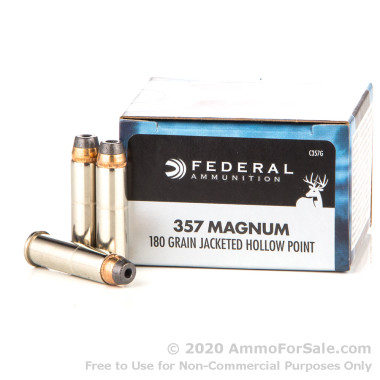 20 Rounds of 180gr JHP .357 Mag Ammo by Federal