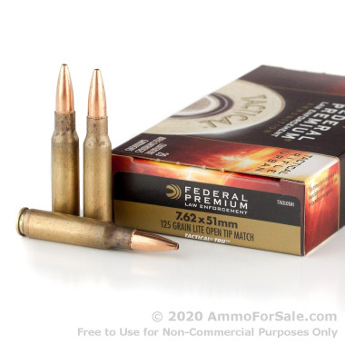 20 Rounds of 125gr OTM .308 Win Ammo by Federal Premium