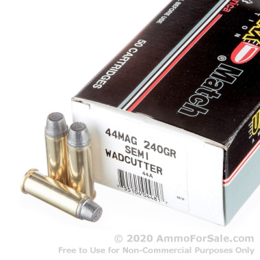 50 Rounds of 240gr LSWC .44 Mag Ammo by Ultramax