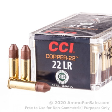 50 Rounds of 21gr Lead-Free HP .22 LR Ammo by CCI