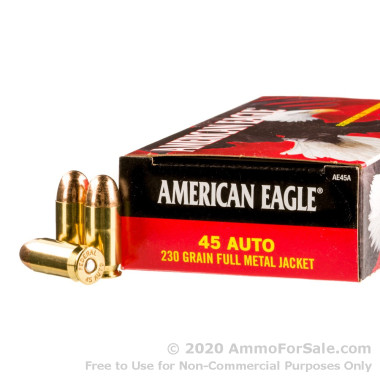 50 Rounds of 230gr FMJ .45 ACP Ammo by Federal