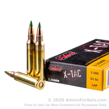 1000 Rounds of 62gr FMJ 5.56x45 Ammo by PMC