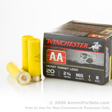 250 Rounds of  #8 Shot 20ga Ammo by Winchester