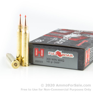 20 Rounds of 165gr GMX .300 Win Mag Ammo by Hornady