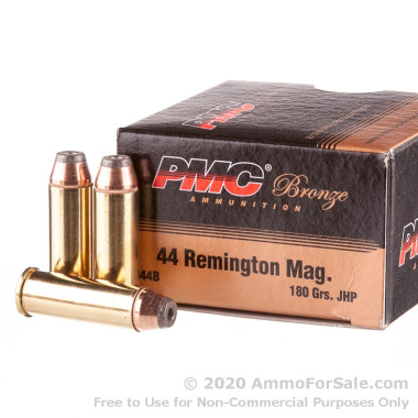 25 Rounds of 180gr JHP .44 Mag Ammo by PMC