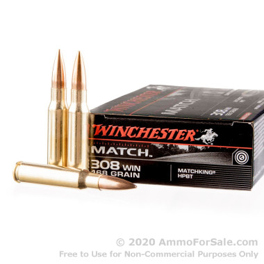 20 Rounds of 168gr HPBT .308 Win Ammo by Winchester