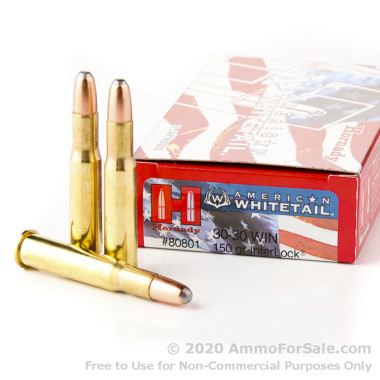 200 Rounds of 150gr RN InterLock 30-30 Win Ammo by Hornady