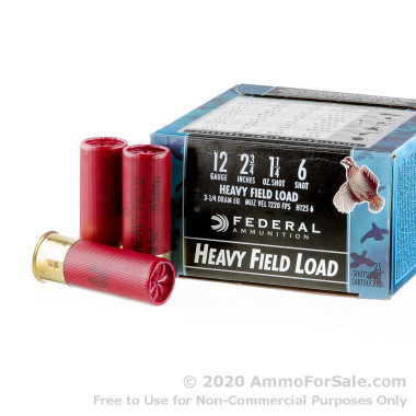 25 Rounds of  #6 shot 12ga Ammo by Federal