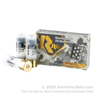250 Rounds of  00 Buck 12ga Ammo by Rio Ammunition