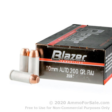 1000 Rounds of 200gr FMJ 10mm Ammo by CCI