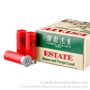 25 Rounds of  #6 shot 12ga Ammo by Estate Game and Target