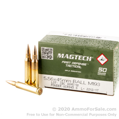 1000 Rounds of 55gr FMJ 5.56x45 Ammo by CBC
