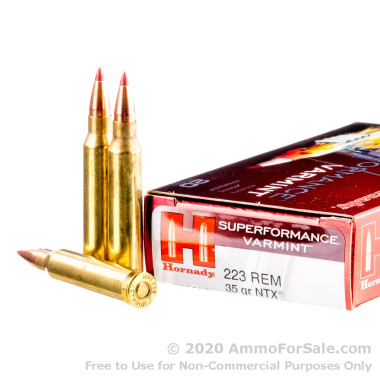 20 Rounds of 35gr Polymer Tipped .223 Ammo by Hornady