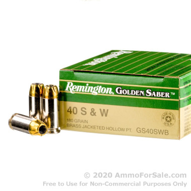 25 Rounds of 180gr JHP .40 S&W Ammo by Remington