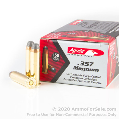 50 Rounds of 158gr SJSP .357 Mag Ammo by Aguila