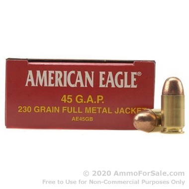1000 Rounds of 230gr FMJ .45 GAP Ammo by Federal