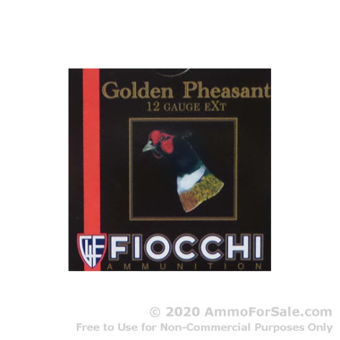 """250 Rounds of 3"""" 1-5/8 oz. #6 shot 12ga Ammo by Fiocchi Golden Pheasant"""