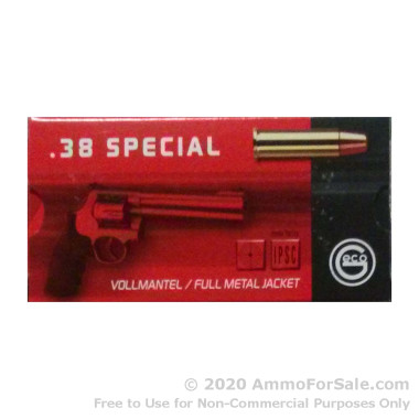 50 Rounds of 158gr FMJ .38 Spl Ammo by GECO
