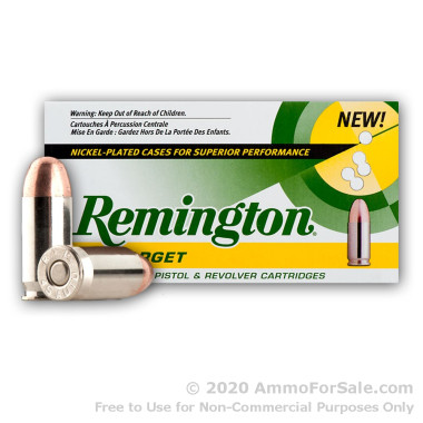 250 Rounds of 230gr MC .45 ACP Nickel Plated Ammo by Remington