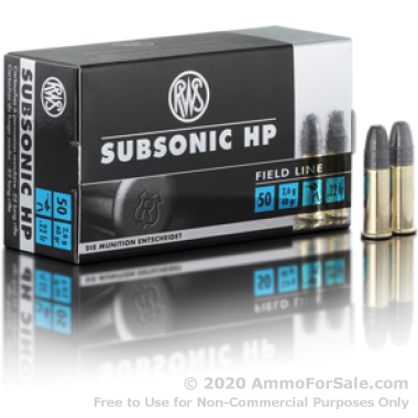 50 Rounds of 40gr HP .22 LR Ammo by RWS