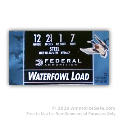 250 Rounds of 1 ounce #7 Shot (Steel) 12ga Ammo by Federal