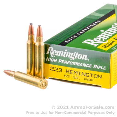 20 Rounds of 55gr PSP .223 Ammo by Remington