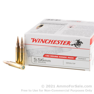 180 Rounds of 62gr OT 5.56x45 Ammo by Winchester