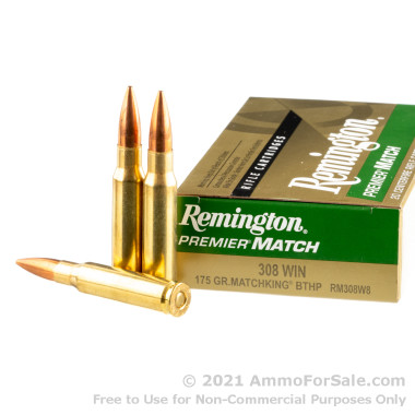 200 Rounds of 175gr HPBT .308 Win Ammo by Remington