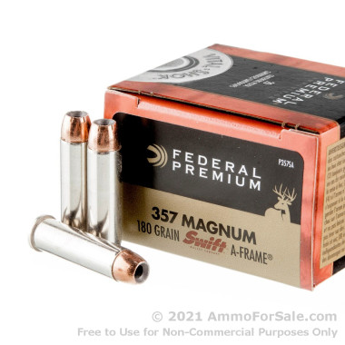 20 Rounds of 180gr JHP .357 Mag Ammo by Federal Vital-Shok