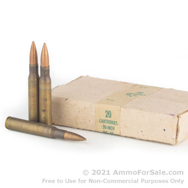 500  Rounds of 150gr FMJ 30-06 Springfield Ammo by Military Surplus