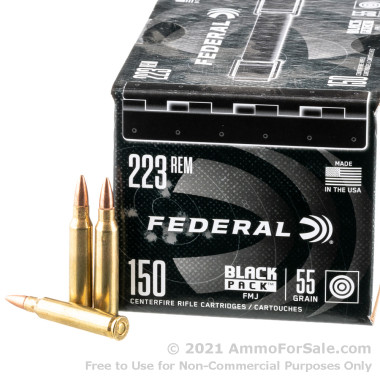 600 Rounds of 55gr FMJ 223 Rem Ammo by Federal
