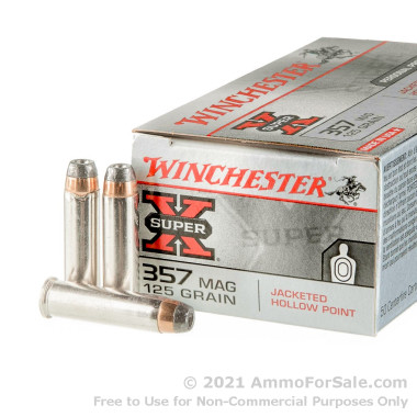 50 Rounds of 125gr JHP .357 Mag Ammo by Winchester Super-X