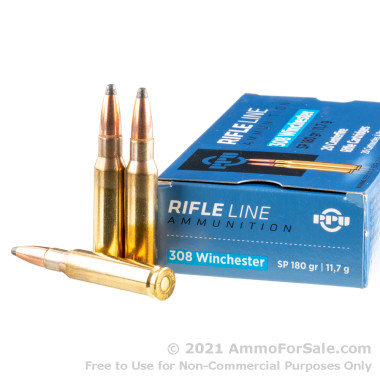 20 Rounds of 180gr SP .308 Win Ammo by Prvi Partizan