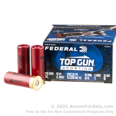 250 Rounds of 1 ounce #8 shot 12ga Ammo by Federal