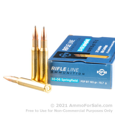 20 Rounds of 165gr PSP 30-06 Springfield Ammo by Prvi Partizan