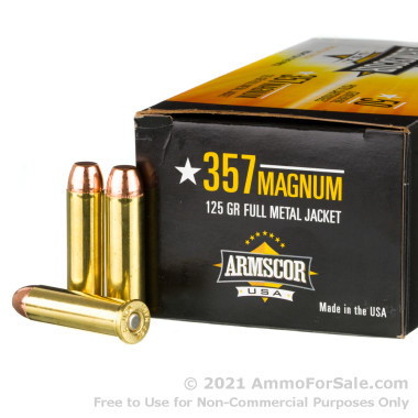 1000 Rounds of 125gr FMJ .357 Mag Ammo by Armscor