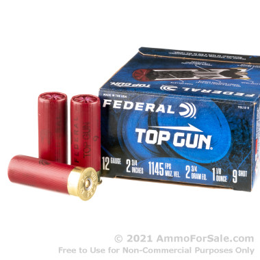250 Rounds of 1 1/8 ounce #9 shot 12ga Ammo by Federal