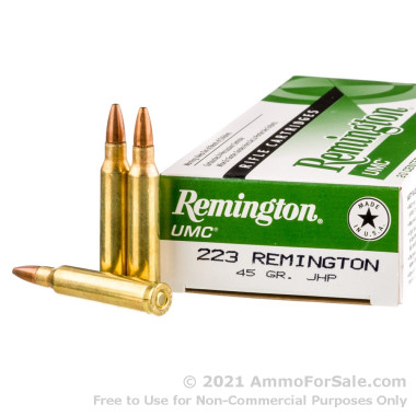 200 Rounds of 45gr JHP .223 Ammo by Remington