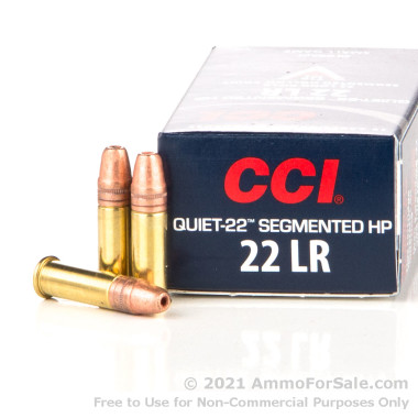 50 Rounds of 40gr Copper-Plated Segmented Hollow-Point (CPSHP) .22 LR Ammo by CCI